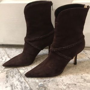 Jimmy Choo suede brown boots